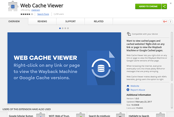 Web Cache Viewer